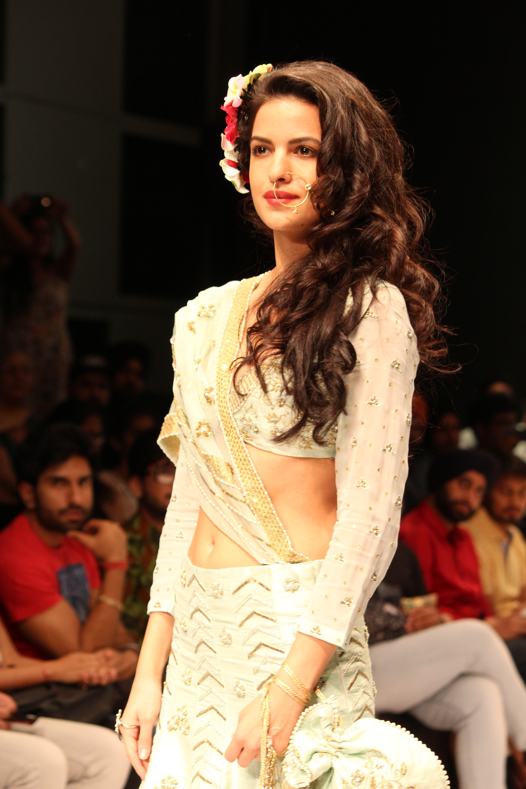 Natasha stankovic showcased the collection of Gauri Couture| India Runway Week Season 6 Highlights| cherryontopblog.com