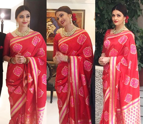 Aishwarya Rai in Saree| Bollywood Divas Who Look Simply Mind-blowing in Sarees| cherryontopblog.com