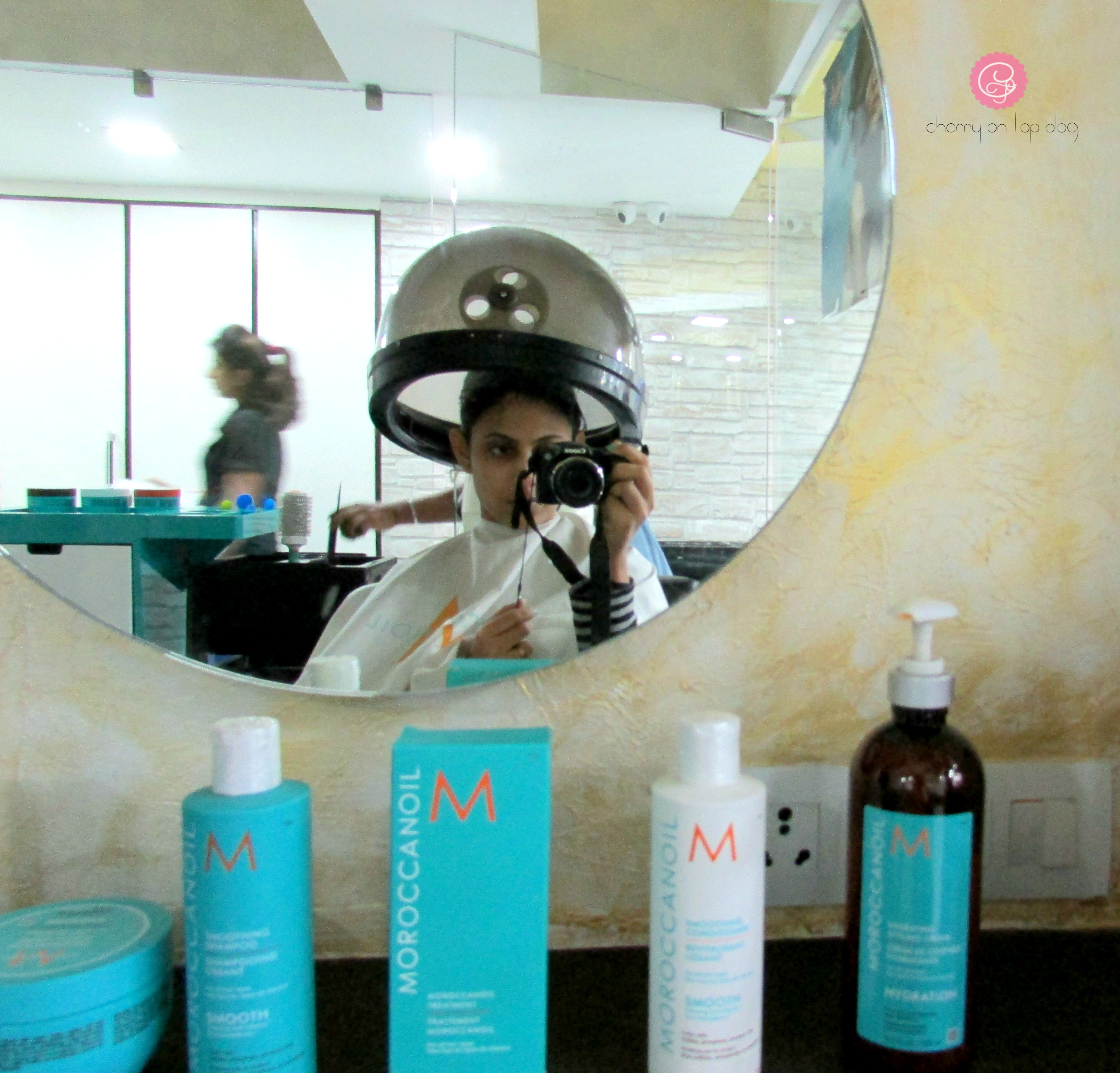 Moroccanoil Smoothing Hair Spa Experience| cherryontopblog.com