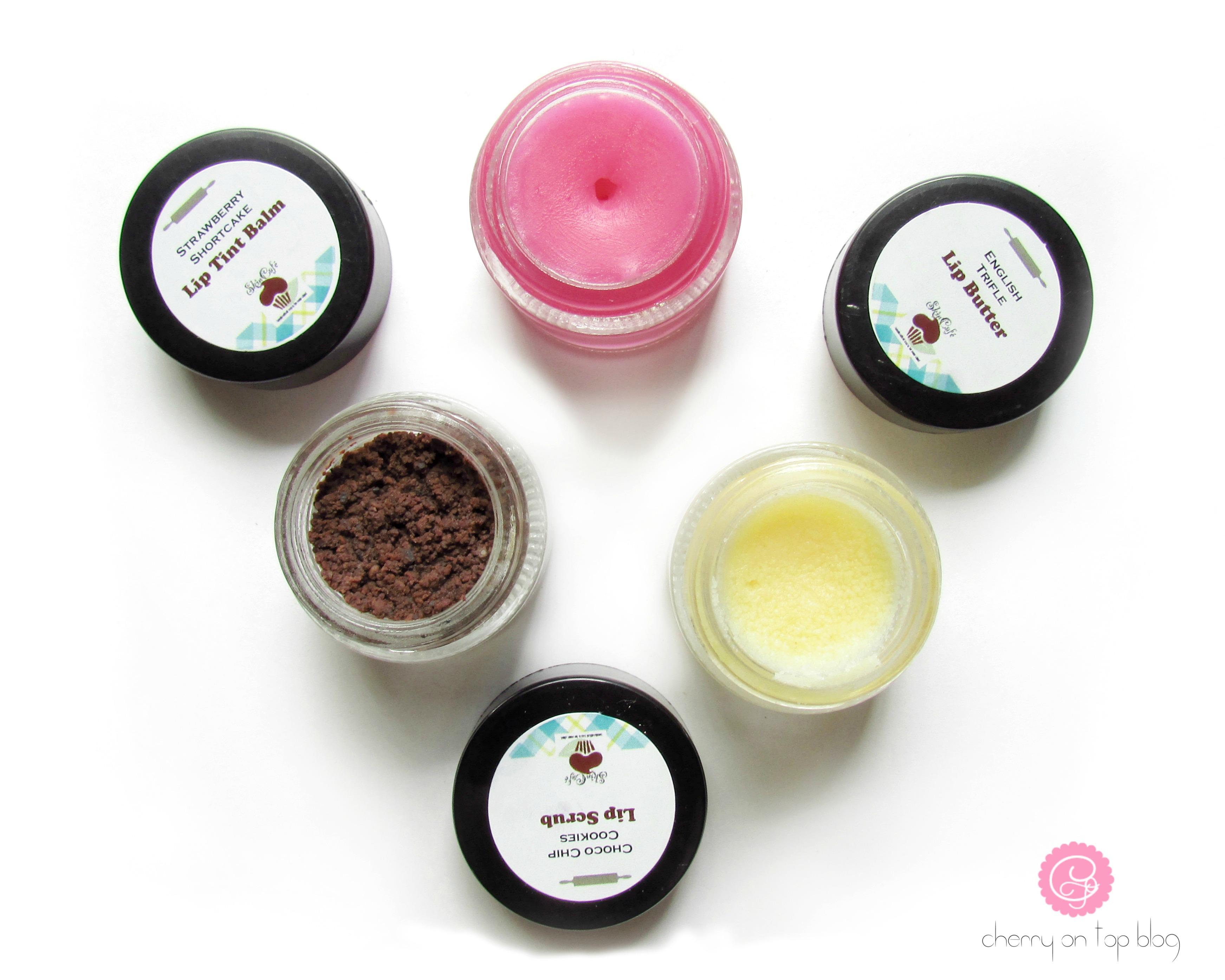SkinCafe Lip Care Range- Scrub, Butter & Tinted Balm Review| cherryontopblog.com