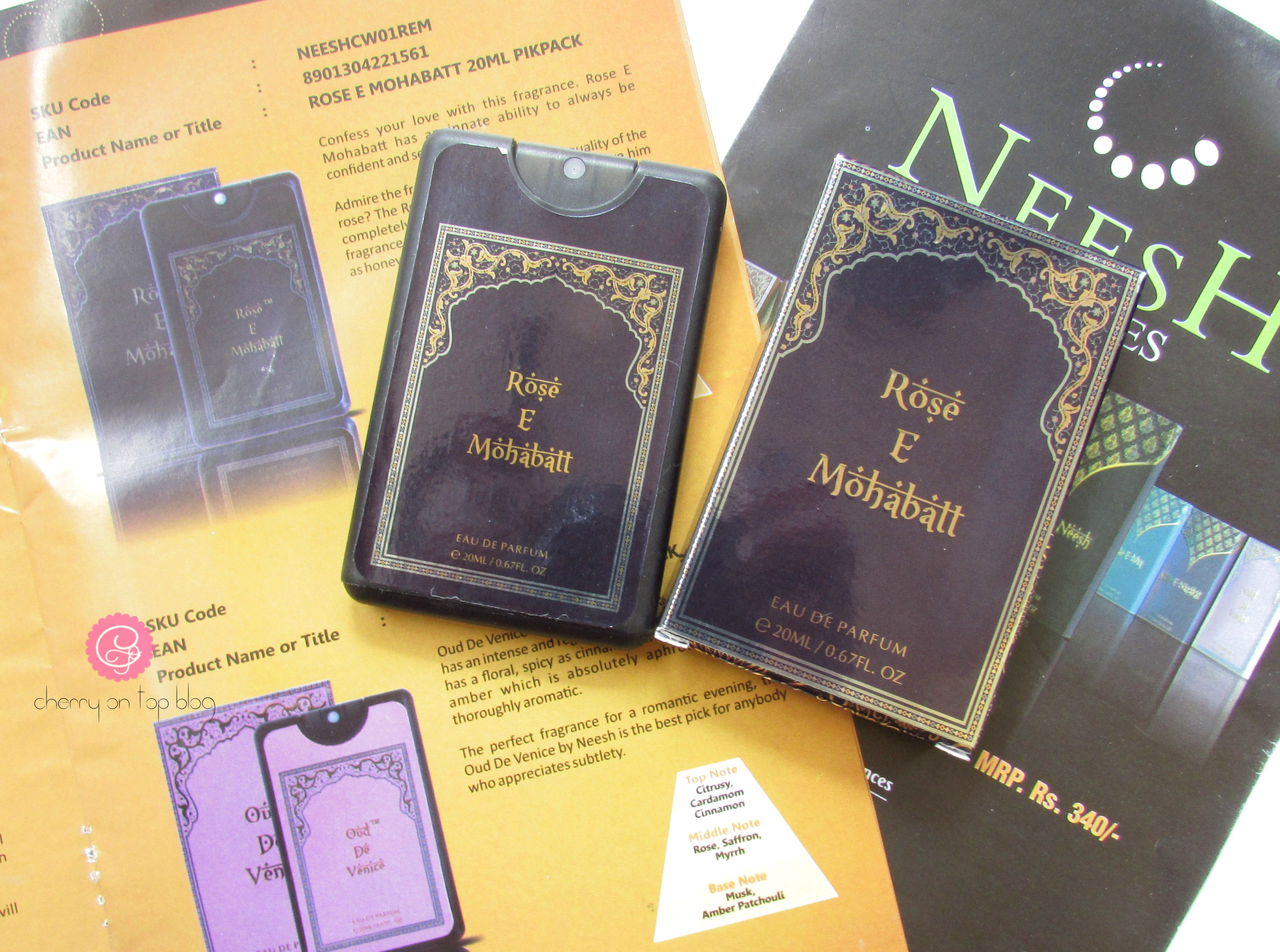 Neesh Perfumes Rose-E-Mohabatt and Belle-D'-Oud Review| Cherry On Top