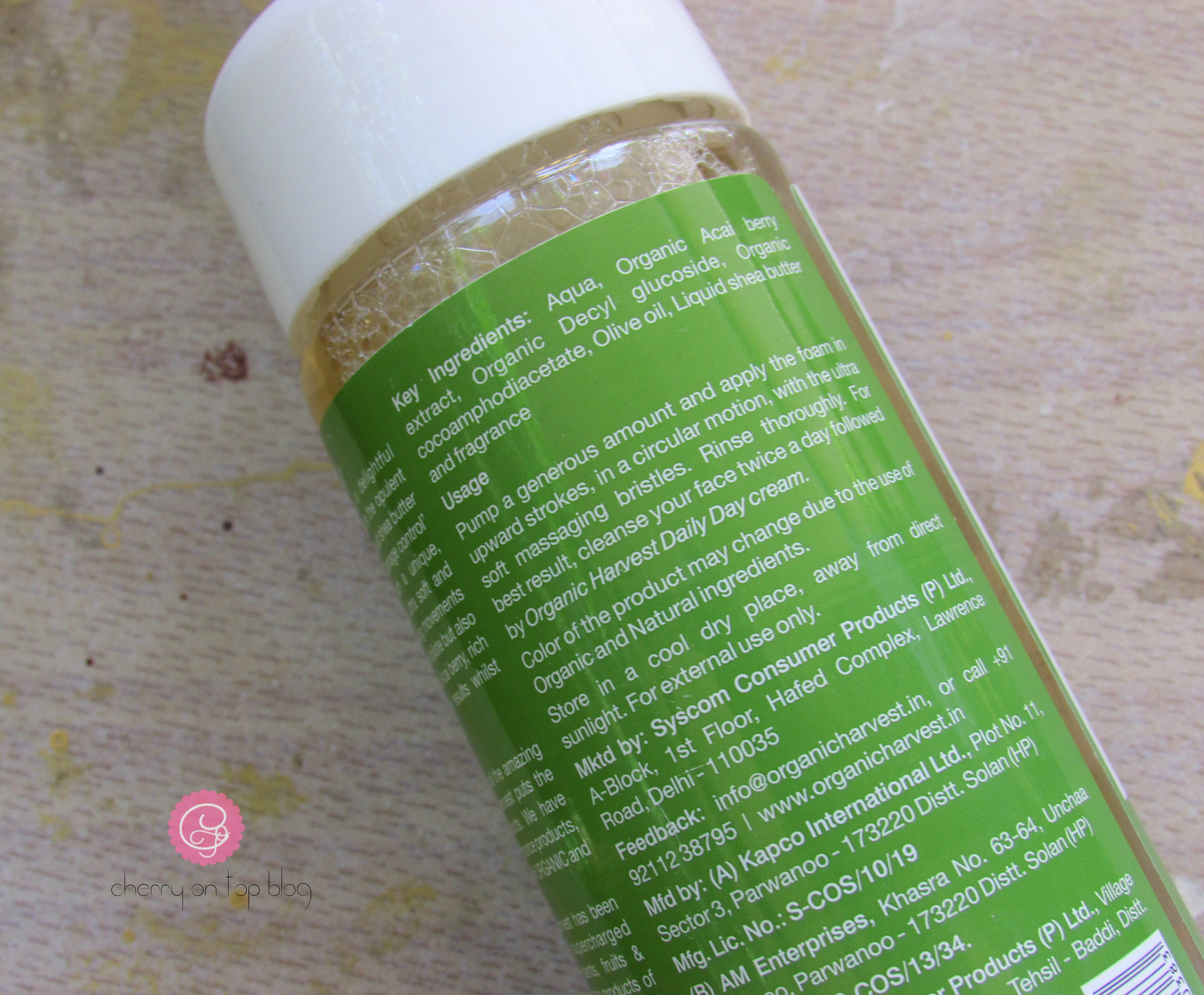 Organic Harvest Masseuscious Damage Control Cleanser Review  Cherry On Top