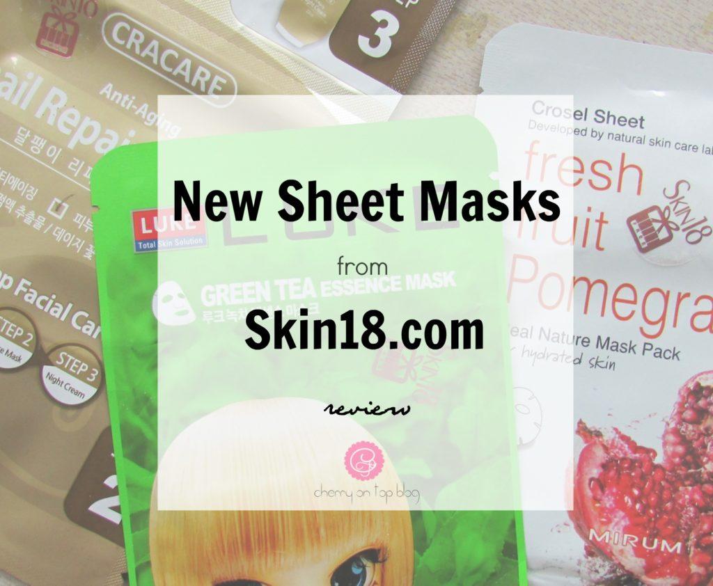 New Skin18.com Sheet Masks | My Experience