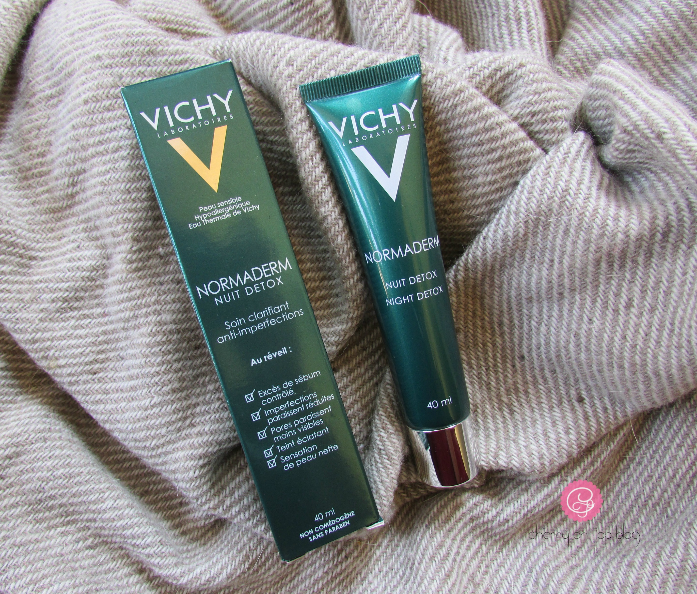 Vichy Normaderm Night Detox Review | Cherry On Top