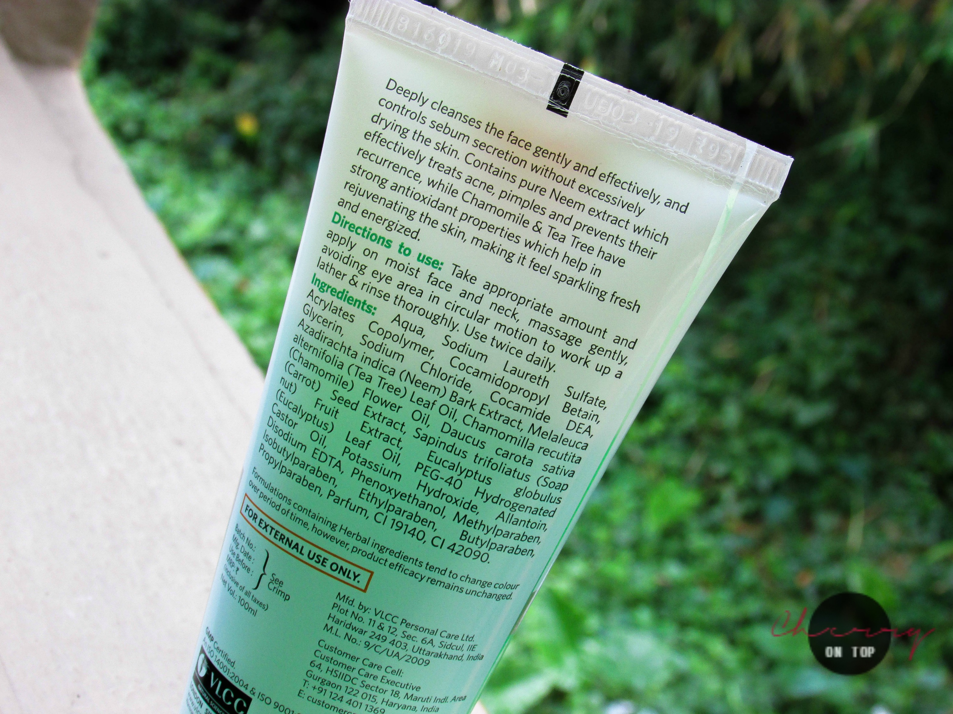 VLCC Neem Face Wash Review   Cherry On Top