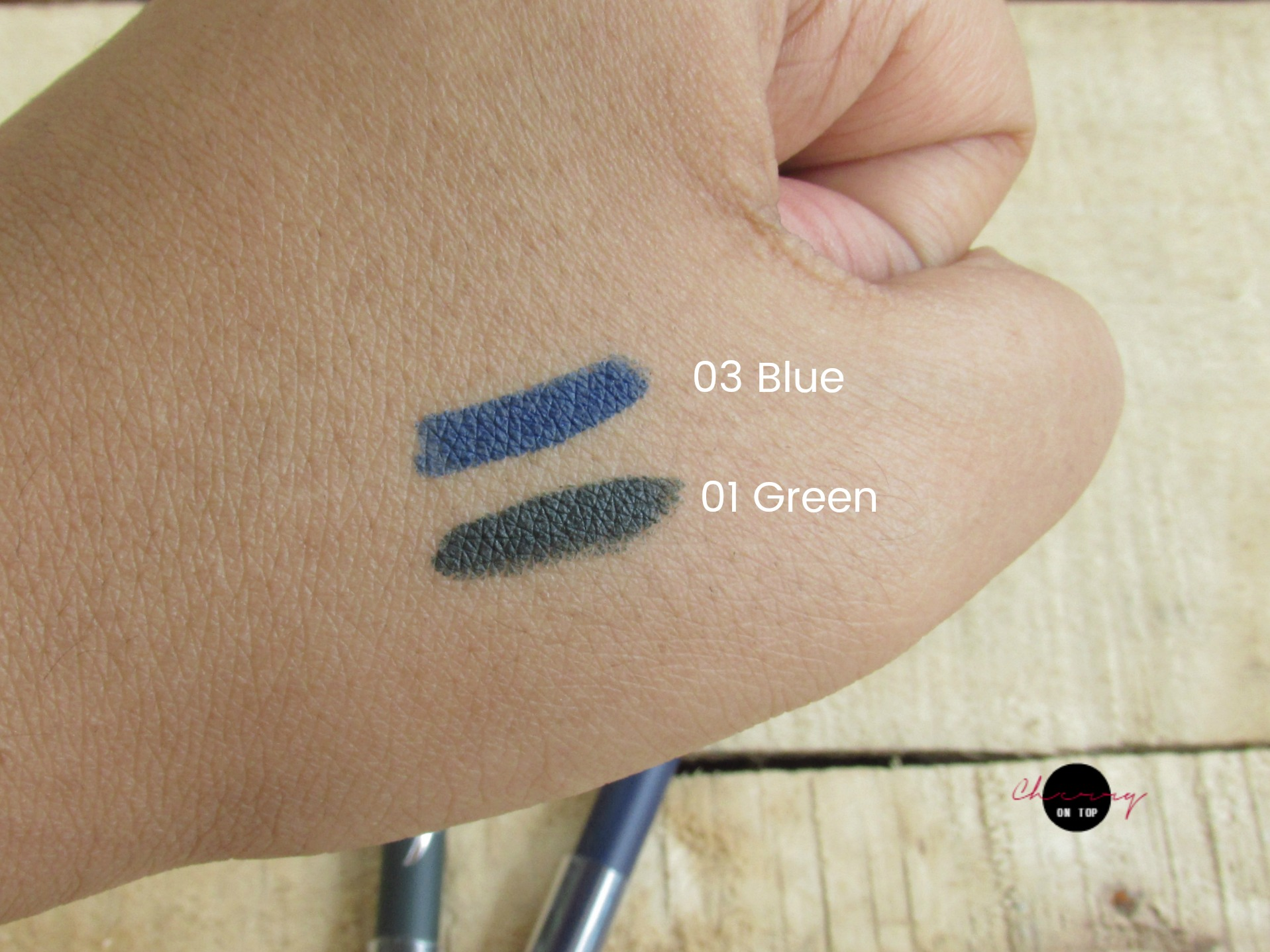 Faces Ultime Pro Intense Gel Kajal- Green & Blue Review, Swatches, Price