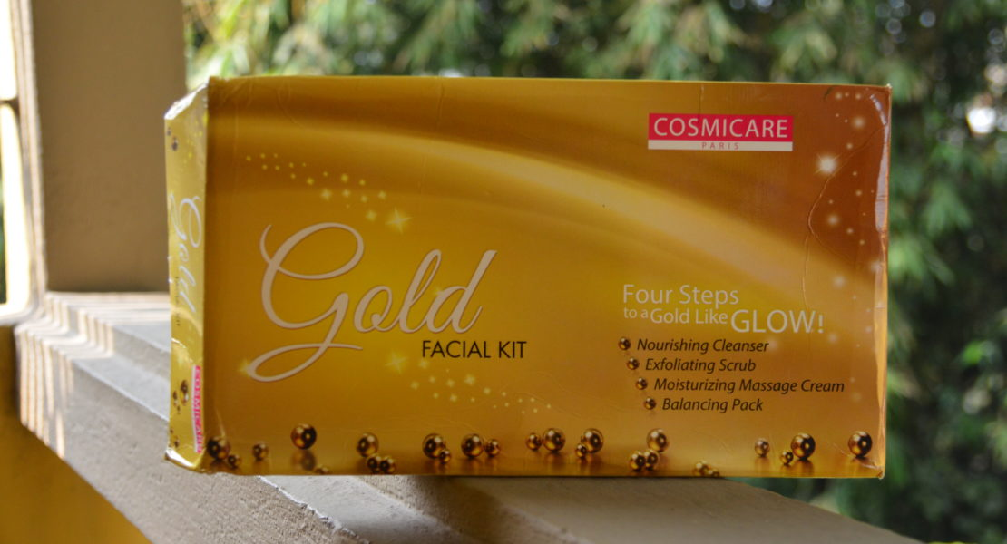 Cosmicare Gold Facial Kit Review | Cherry On Top Blog