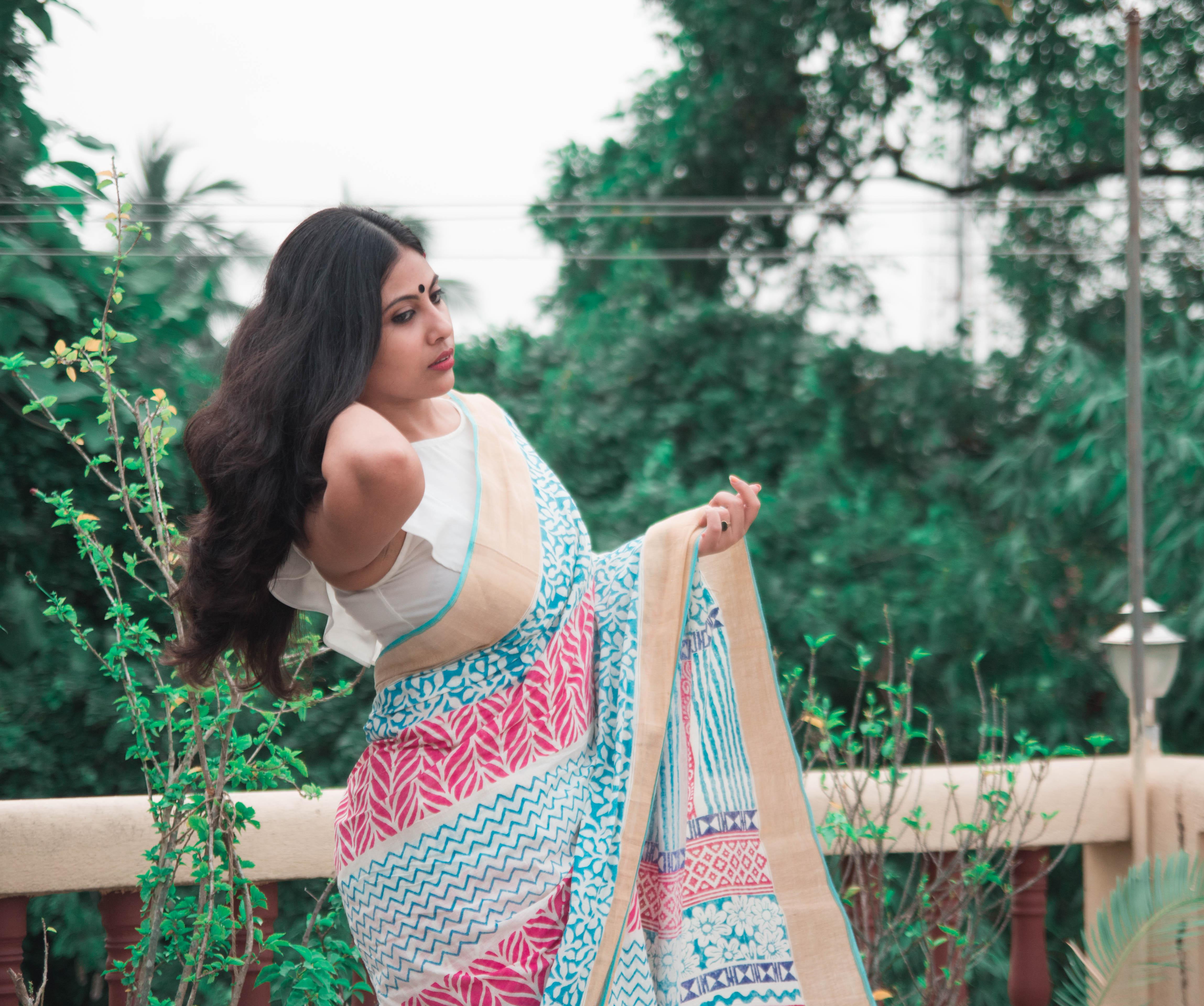 How to style Unnati Silks Mangalagiri Handloom Cotton Sari | Cherry On Top | The Ultimate Practical Bong Look
