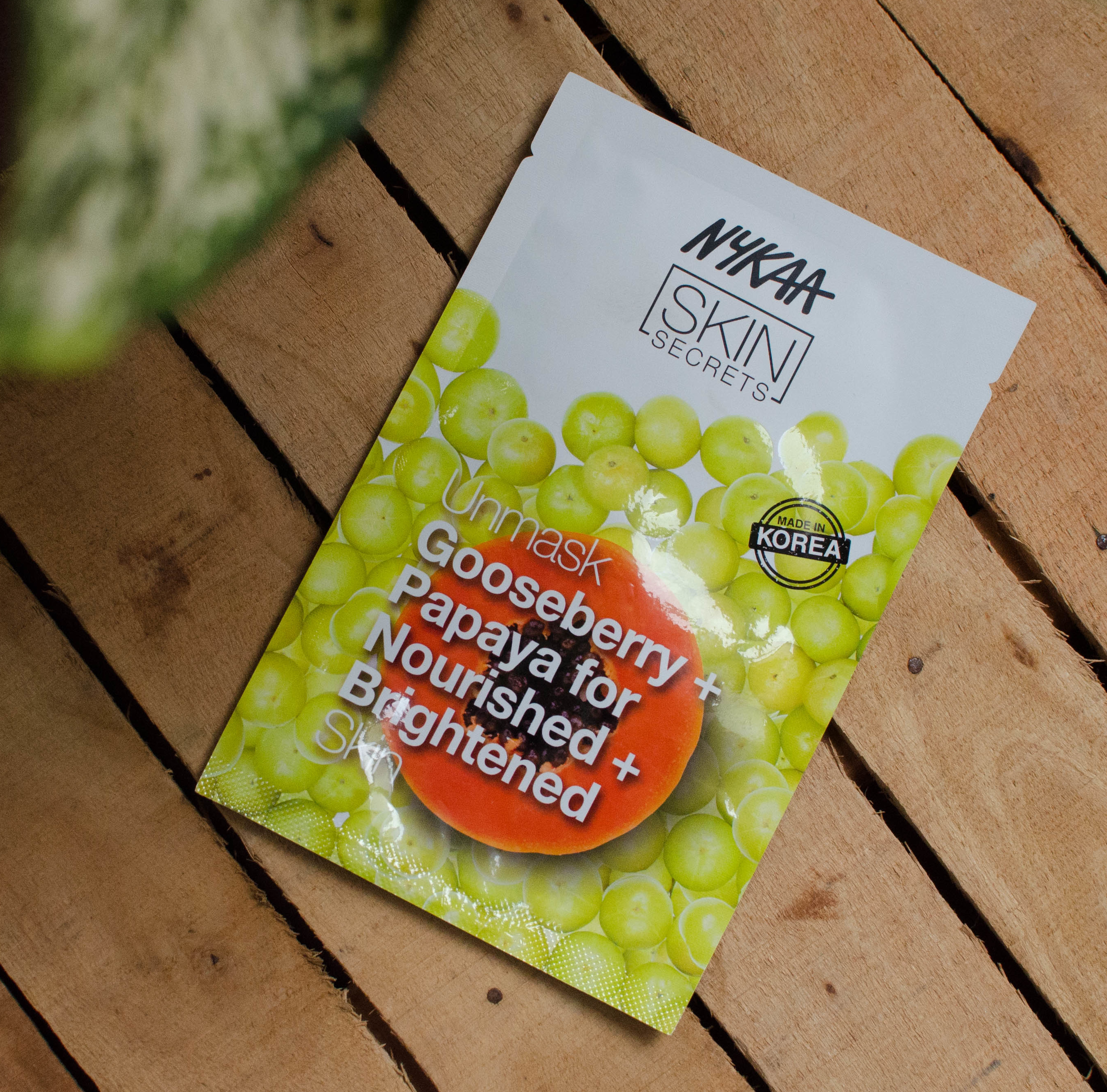 Nykaa Skin Secrets Face Sheet Mask Gooseberry + Papaya Review | Cherry On Top