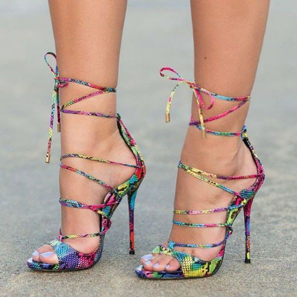 Multi Colour Heels for Music Festival | Summer Footwear for Day to Night | Cherry On Top Blog