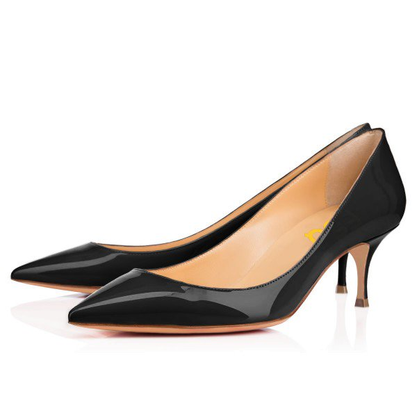 Black Formal Kitten Heels for Office | FSJ Shoes| Summer Footwear for Day to Night | Cherry On Top Blog