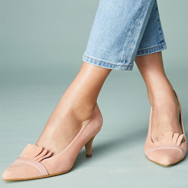 Blush Kitten Heels for Brunch | FSJ Shoes| Summer Footwear for Day to Night | Cherry On Top Blog