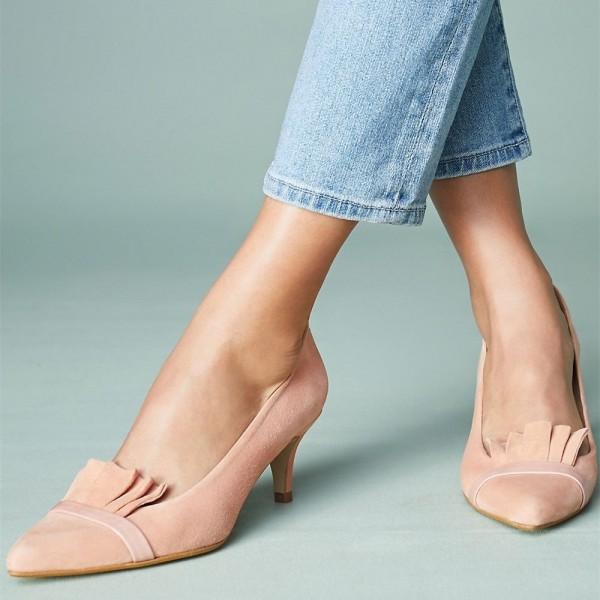 Blush Kitten Heels for Brunch | FSJ Shoes| Summer Footwear for Day to Night | Cherry On Top Blog