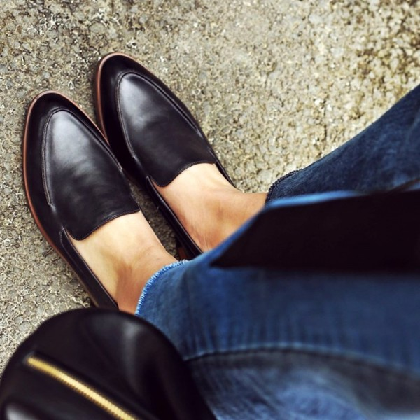 Black Vintage Loafers for Office | FSJ Shoes| Summer Footwear for Day to Night | Cherry On Top Blog