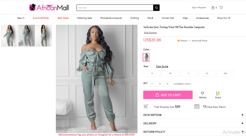 Jumpsuits and Rompers African Mall | Cherry On Top