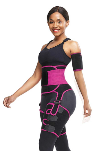 FEELINGIRL NEOPRENE WAIST TRIMMER WITH HIGH WAIST MID THIGH SHAPEWEAR FOR TUMMY AND WAIST