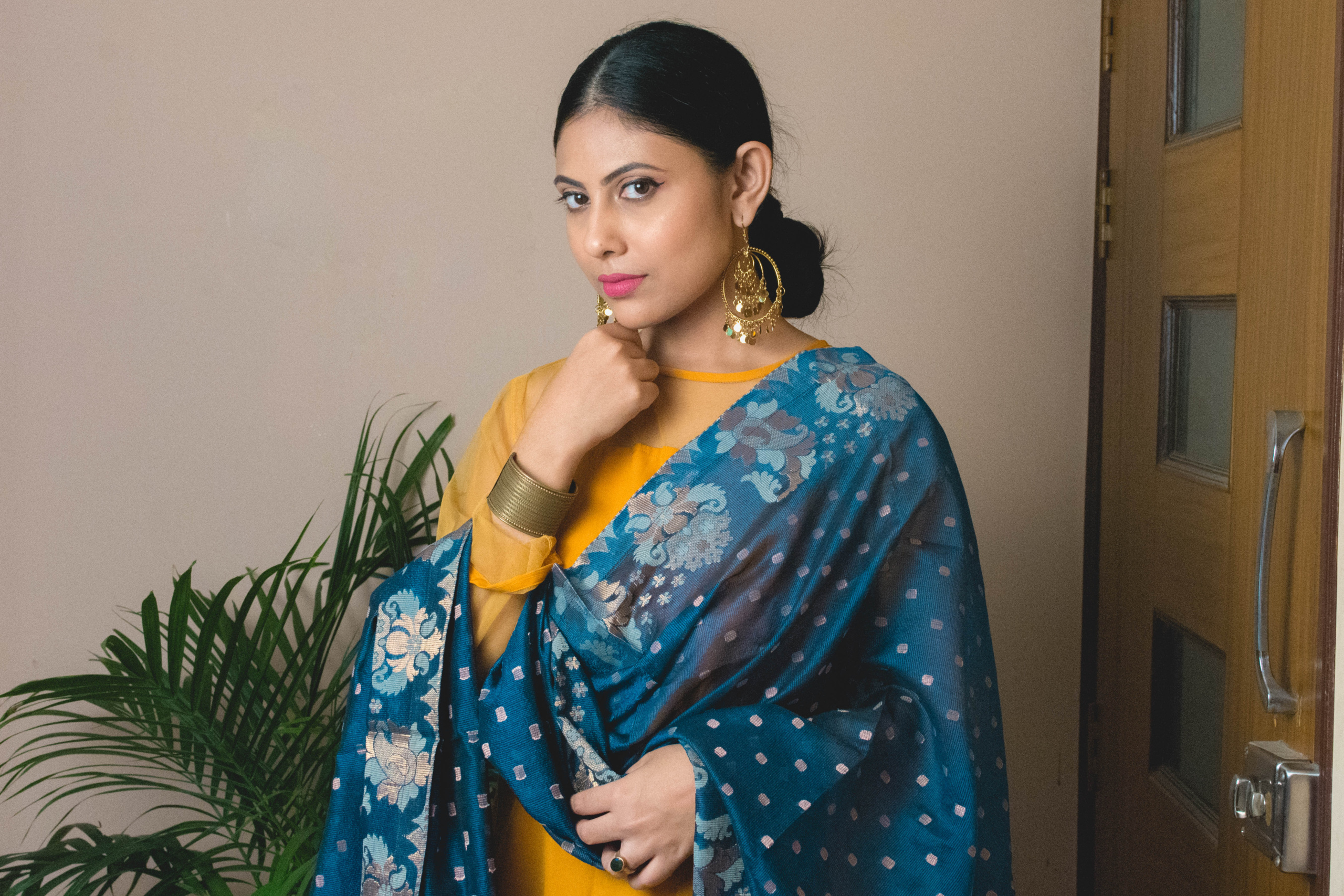 Indian Festive Outfit from Scratch | Omgee Chanderi Dupatta | Cherry On Top