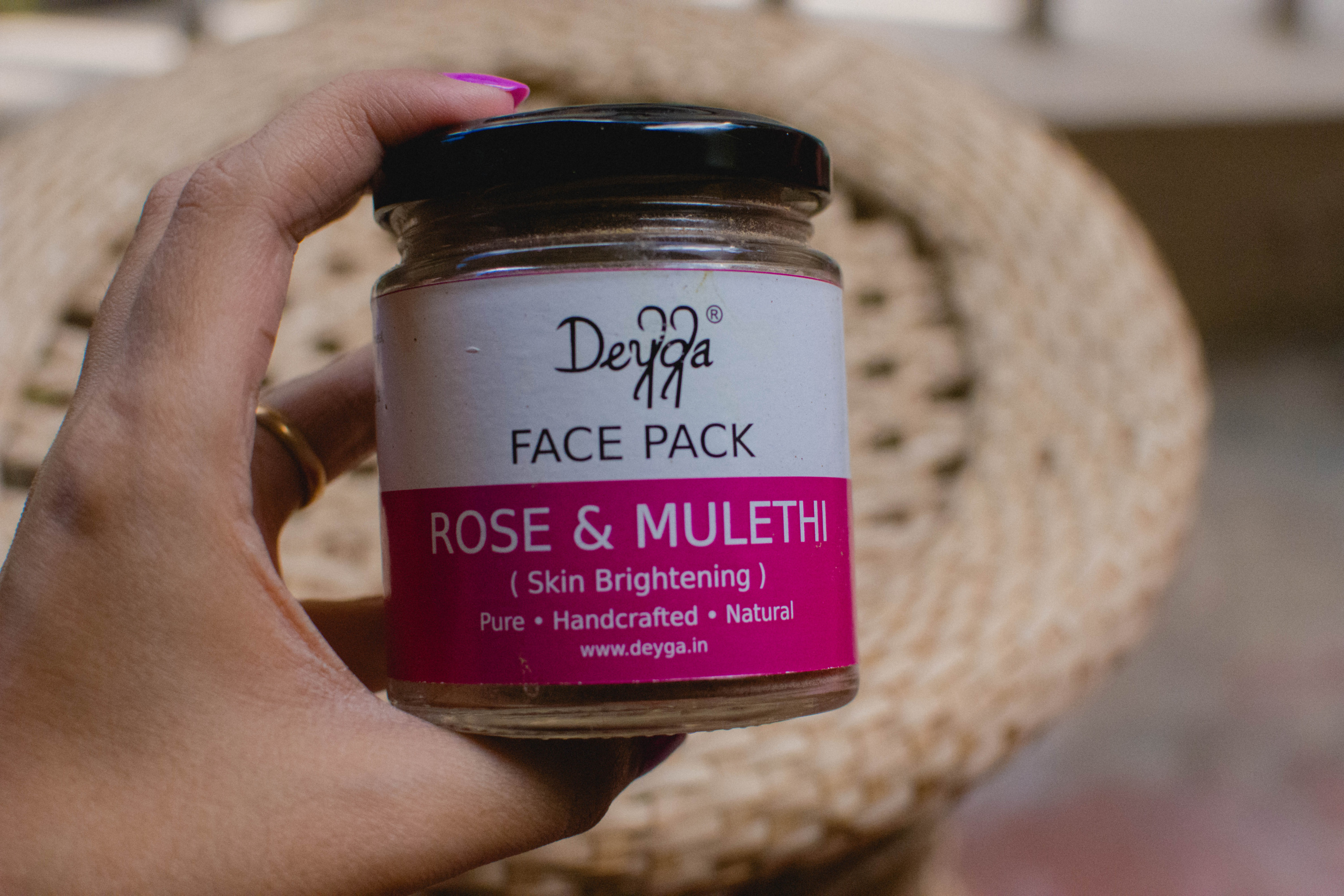 Deyga Rose and Mulethi Face Pack Review | Cherry On Top Blog