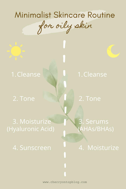 best AM-PM routine for oily skin | minimalist skincare routine for oily skin | cherry on top blog